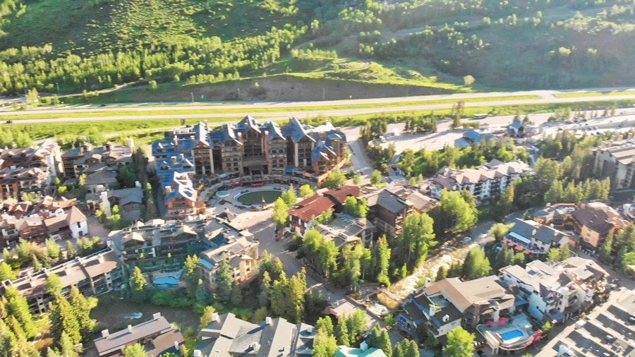 Aerial view of Vail Town