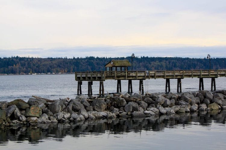 A dock in Campbell River, Vancouver Island