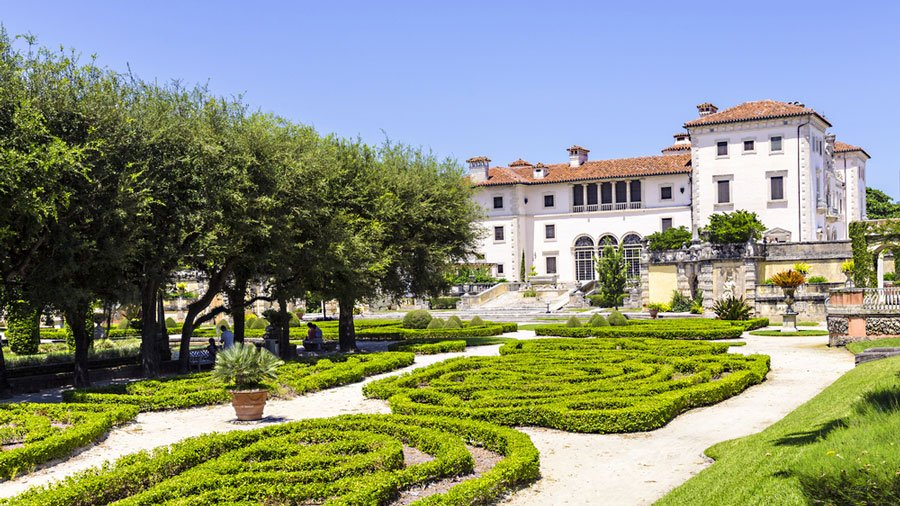 View of the Vizcaya Museum & Gardens from outside