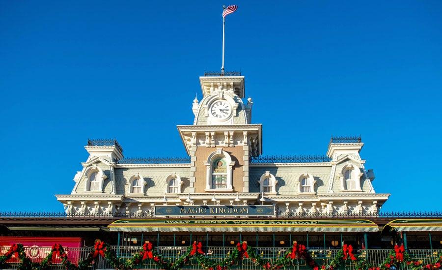 View of the Magic Kingdom entrance in Walt Disney World