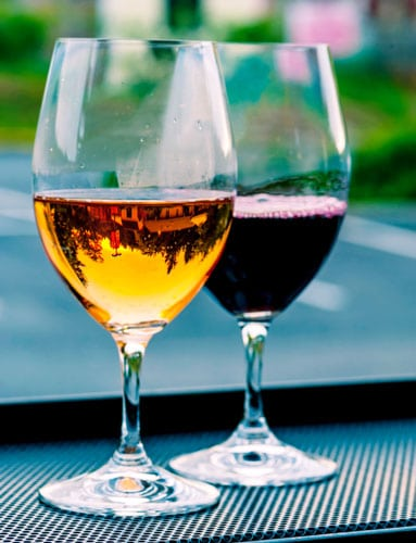 View of two wine glass on the table