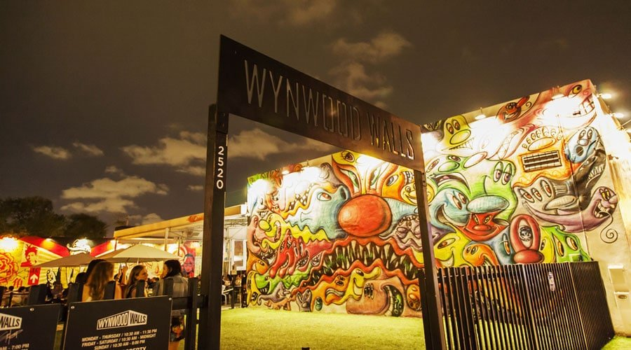 View of the entrance to Wynwood Walls