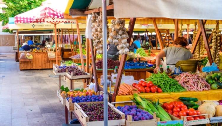 Fruits at the market in Zadar Croatia