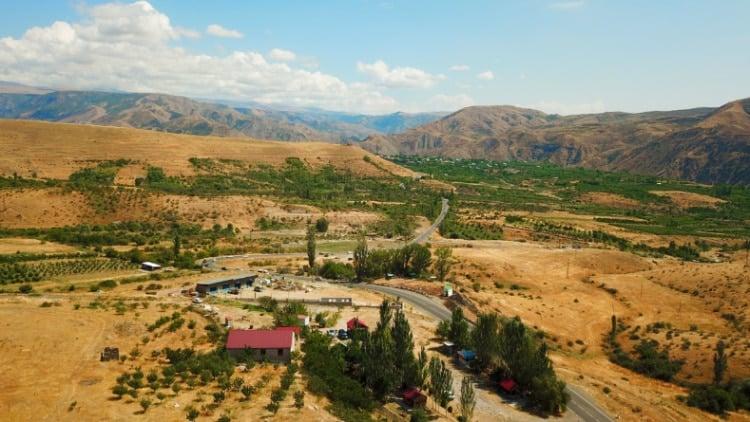 Drone Shot of Armenia Landscape
