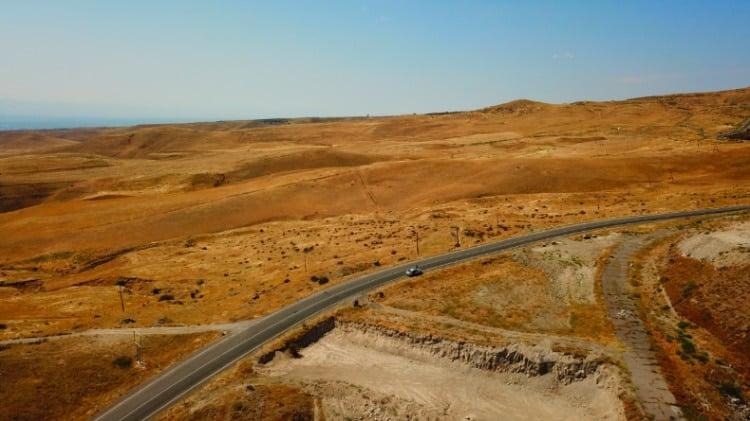 Drone Shot of Armenia Desert