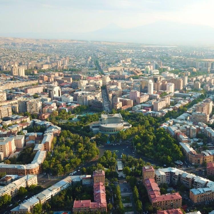 Yerevan drone shot