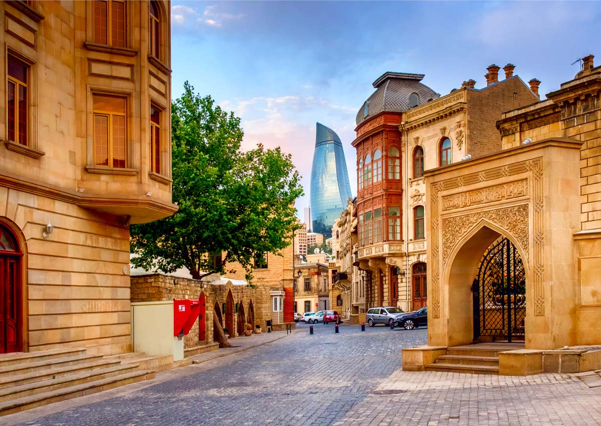Buildings in Baku Azerbaijan