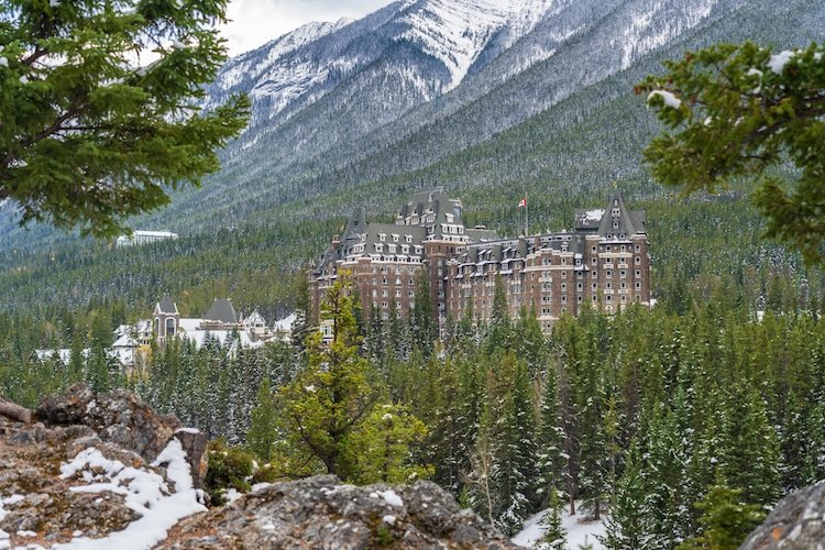 A photo of the Fairmont Banff Springs in Canada