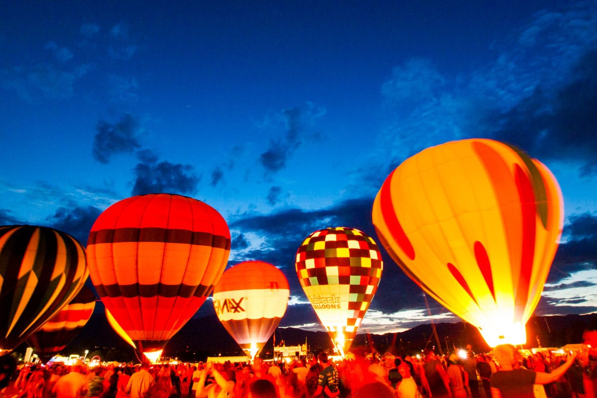 Hot air balloons in Colorado Springs, Colorado