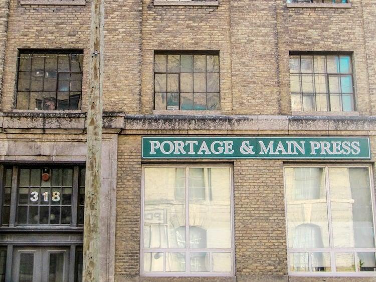 Portage and main Press in Winnipeg, Manitoba