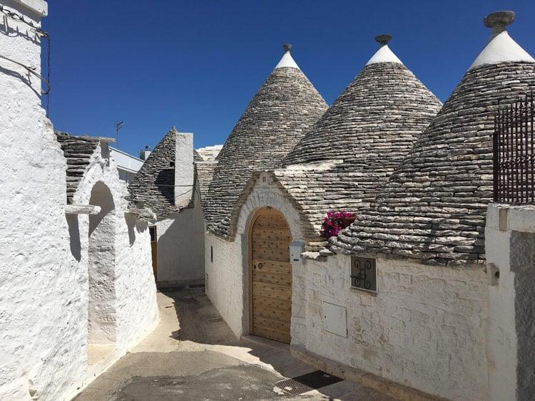 Street with beehive houses of Alberobello
