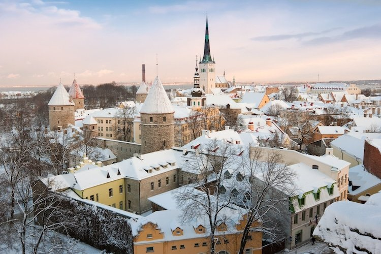 View of the old city in Tallinn. Estonia