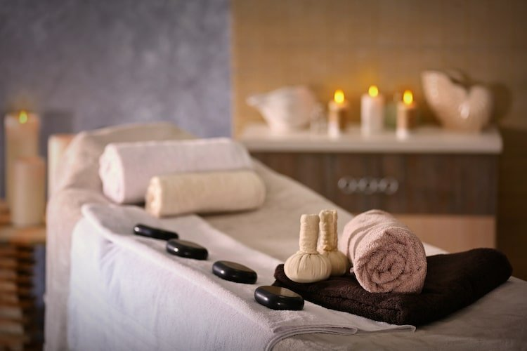 Place for relaxation in thermea spa winnipeg manitoba