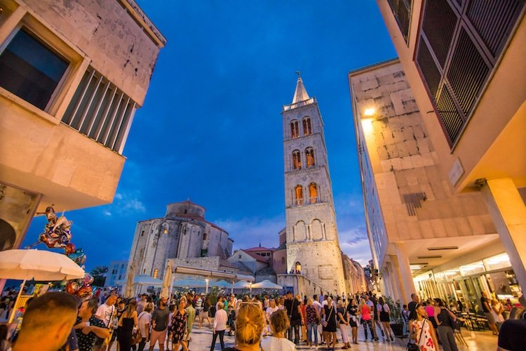 St Donatus church in Zadar at night - Croatia