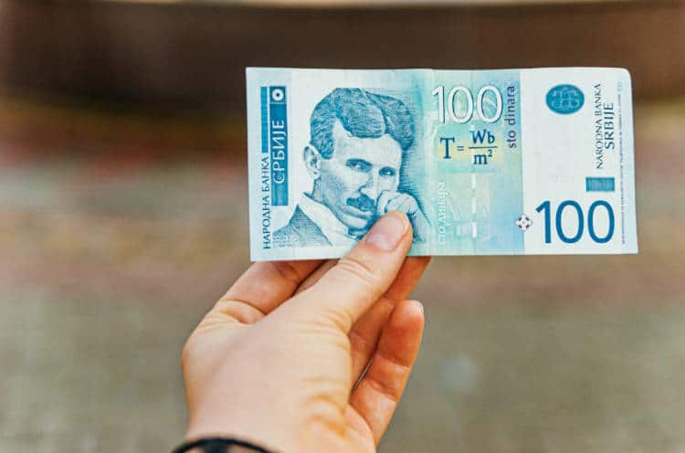 Serbian dinar note