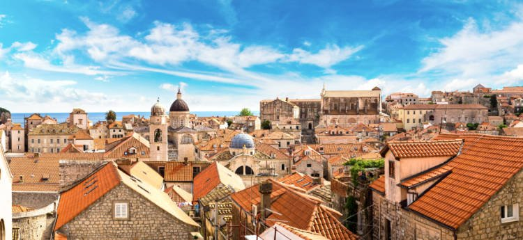 Rooftops in Dubrovnik's Old City