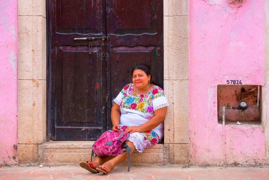 Un mujere in Valladolid Mexico