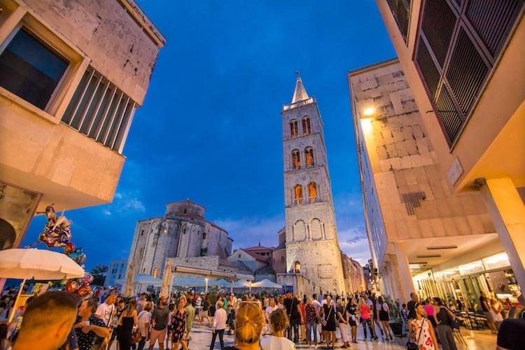 Bell tower in Zadar Croatia